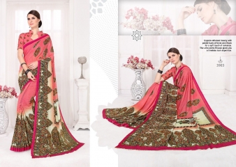 SILKVILLA COCHI SILK VOL 2 DIGITAL PRINTS SILKS DESIGNER WEAR SAREES WHOLESALE (3)