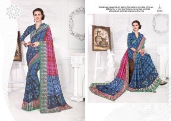 SILKVILLA COCHI SILK VOL 2 DIGITAL PRINTS SILKS DESIGNER WEAR SAREES WHOLESALE (5)