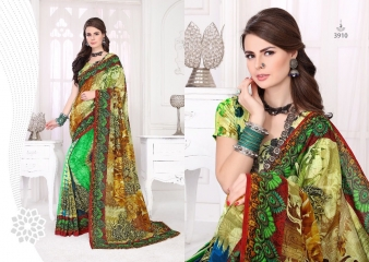 SILKVILLA COCHI SILK VOL 2 DIGITAL PRINTS SILKS DESIGNER WEAR SAREES WHOLESALE (9)