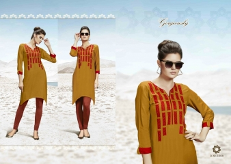 SMORE FASHION FISH FANCY RAYON FABRIC KURTIS FOR FESTIVE WEAR COLLECTION WHOLESALE BEST RATE BY GOSIYA EXPORTS SURAT (2)