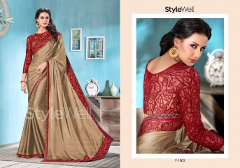 STYLEWELL BY FLORENCIYA CATALOG FANCY PARTY WEAR EMBROIDERED SAREES COLLECTION (1)