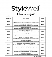 STYLEWELL BY FLORENCIYA CATALOG FANCY PARTY WEAR EMBROIDERED SAREES COLLECTION (10)