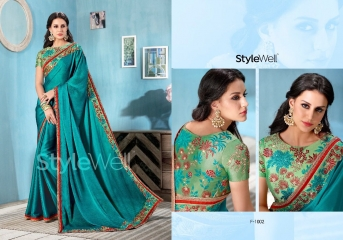 STYLEWELL BY FLORENCIYA CATALOG FANCY PARTY WEAR EMBROIDERED SAREES COLLECTION (12)