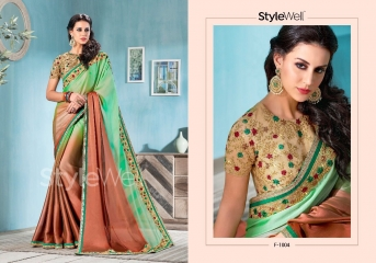 STYLEWELL BY FLORENCIYA CATALOG FANCY PARTY WEAR EMBROIDERED SAREES COLLECTION (2)