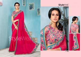 STYLEWELL BY FLORENCIYA CATALOG FANCY PARTY WEAR EMBROIDERED SAREES COLLECTION (3)