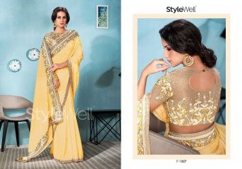 STYLEWELL BY FLORENCIYA CATALOG FANCY PARTY WEAR EMBROIDERED SAREES COLLECTION (5)