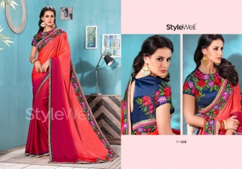 STYLEWELL BY FLORENCIYA CATALOG FANCY PARTY WEAR EMBROIDERED SAREES COLLECTION (6)