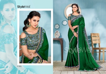 STYLEWELL BY FLORENCIYA CATALOG FANCY PARTY WEAR EMBROIDERED SAREES COLLECTION (9)