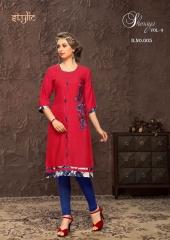 Stylic Shenaya Vol 9 Rayon Casual Wear Kurti Catalog BY GOSIYA EXPORTS SURAT (10)