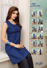 STYLIC SHINE VOL 2 DENIM KURTI WHOLESALE RATE AT GOSIYA EXPORTS SURAT WHOLESALE SUPPLAYER AND DEALER SURAT GUJARAT (1)