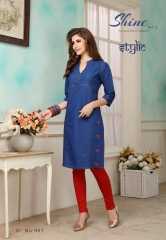 STYLIC SHINE VOL 2 DENIM KURTI WHOLESALE RATE AT GOSIYA EXPORTS SURAT WHOLESALE SUPPLAYER AND DEALER SURAT GUJARAT (10)