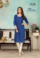 STYLIC SHINE VOL 2 DENIM KURTI WHOLESALE RATE AT GOSIYA EXPORTS SURAT WHOLESALE SUPPLAYER AND DEALER SURAT GUJARAT (2)