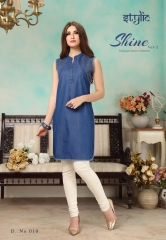 STYLIC SHINE VOL 2 DENIM KURTI WHOLESALE RATE AT GOSIYA EXPORTS SURAT WHOLESALE SUPPLAYER AND DEALER SURAT GUJARAT (3)