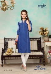 STYLIC SHINE VOL 2 DENIM KURTI WHOLESALE RATE AT GOSIYA EXPORTS SURAT WHOLESALE SUPPLAYER AND DEALER SURAT GUJARAT (5)