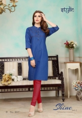 STYLIC SHINE VOL 2 DENIM KURTI WHOLESALE RATE AT GOSIYA EXPORTS SURAT WHOLESALE SUPPLAYER AND DEALER SURAT GUJARAT (6)