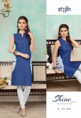 STYLIC SHINE VOL 2 DENIM KURTI WHOLESALE RATE AT GOSIYA EXPORTS SURAT WHOLESALE SUPPLAYER AND DEALER SURAT GUJARAT (7)