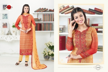 SUHATI FAB SILKY VOL 2 GEORGETTE STRAIGHT SUITS WHOLESALE BEST RATE SURAT BY GOSIYA EXPORTS (5)