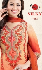 SUHATI FAB SILKY VOL 2 GEORGETTE STRAIGHT SUITS WHOLESALE BEST RATE SURAT BY GOSIYA EXPORTS