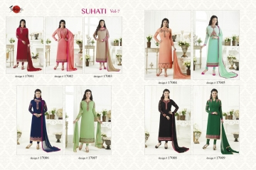 SUHATI FAB SUHATI VOL 7 GEORGETTE EMBROIDERY SUITS WHOLESALE BEST RATE BY GOSIYA EXPORTS SURAT (11)