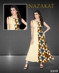 SUVESH NAZAKAT REYON SLUB KURTI COLLECTION WHOLESALER BEST RATE BY GOSIYA EXPORTS SURAT (3)