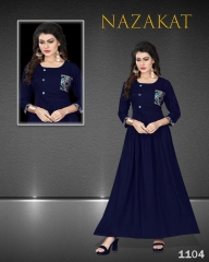 SUVESH NAZAKAT REYON SLUB KURTI COLLECTION WHOLESALER BEST RATE BY GOSIYA EXPORTS SURAT (4)