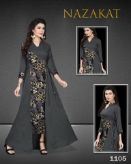 SUVESH NAZAKAT REYON SLUB KURTI COLLECTION WHOLESALER BEST RATE BY GOSIYA EXPORTS SURAT (5)