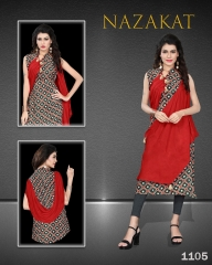 SUVESH NAZAKAT REYON SLUB KURTI COLLECTION WHOLESALER BEST RATE BY GOSIYA EXPORTS SURAT (6)