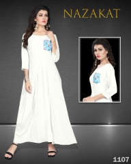 SUVESH NAZAKAT REYON SLUB KURTI COLLECTION WHOLESALER BEST RATE BY GOSIYA EXPORTS SURAT (7)
