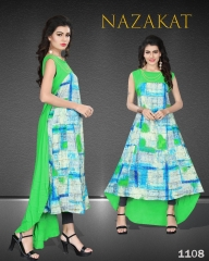 SUVESH NAZAKAT REYON SLUB KURTI COLLECTION WHOLESALER BEST RATE BY GOSIYA EXPORTS SURAT (8)