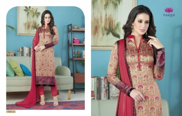 SWAGAT MARIGOLD SATIN PRINTS WITH (1)