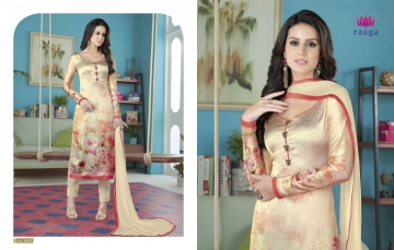 SWAGAT MARIGOLD SATIN PRINTS WITH (10)