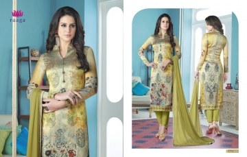 SWAGAT MARIGOLD SATIN PRINTS WITH (14)
