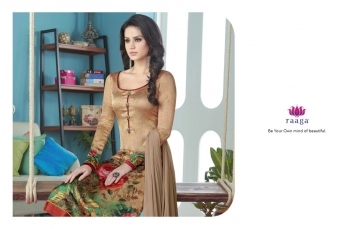 SWAGAT MARIGOLD SATIN PRINTS WITH (3)