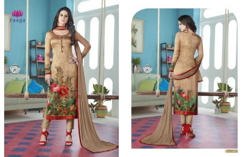 SWAGAT MARIGOLD SATIN PRINTS WITH (6)