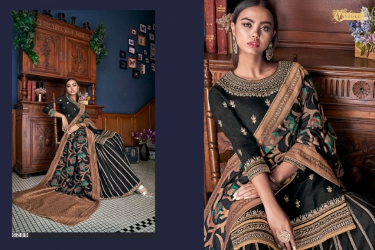 SWAGAT VIOLET 6201-6214 SERIES SILK INDIAN FESTIVE DRESSES COLLECTION 2019 WHOLESALE DEALER BEST RATE BY GOSIYA EXPORTS SURAT (10)