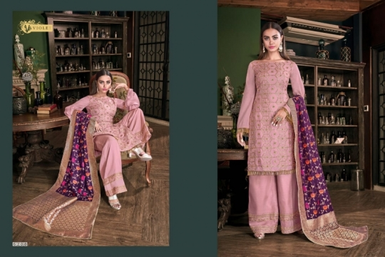 SWAGAT VIOLET 6201-6214 SERIES SILK INDIAN FESTIVE DRESSES COLLECTION 2019 WHOLESALE DEALER BEST RATE BY GOSIYA EXPORTS SURAT (16)