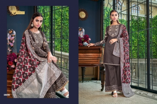 SWAGAT VIOLET 6201-6214 SERIES SILK INDIAN FESTIVE DRESSES COLLECTION 2019 WHOLESALE DEALER BEST RATE BY GOSIYA EXPORTS SURAT (18)