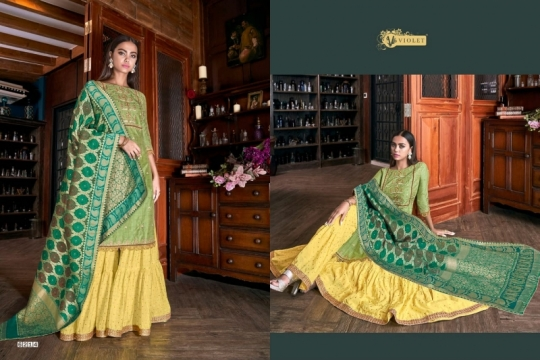 SWAGAT VIOLET 6201-6214 SERIES SILK INDIAN FESTIVE DRESSES COLLECTION 2019 WHOLESALE DEALER BEST RATE BY GOSIYA EXPORTS SURAT (4)