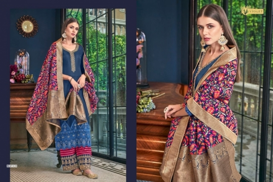 SWAGAT VIOLET 6201-6214 SERIES SILK INDIAN FESTIVE DRESSES COLLECTION 2019 WHOLESALE DEALER BEST RATE BY GOSIYA EXPORTS SURAT (6)