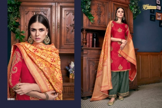 SWAGAT VIOLET 6201-6214 SERIES SILK INDIAN FESTIVE DRESSES COLLECTION 2019 WHOLESALE DEALER BEST RATE BY GOSIYA EXPORTS SURAT (8)