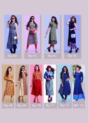 SWARN PANKH SKY 7 RAYON COTTON KURTI WHOLESALER BEST RATE BY GOSIYA EXPORTS SURAT (14)