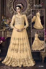 SYBELLA SERIES S 101TO S108 DESIGNER ANARKALI DRESS CATALOG WHOLESALE BEST RATE BY GOSIYA EXPORTS (5)
