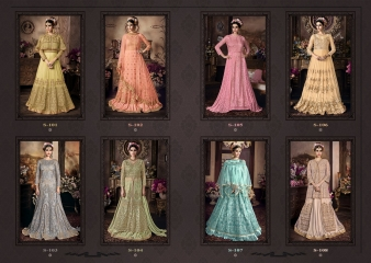 SYBELLA SERIES S 101TO S108 DESIGNER ANARKALI DRESS CATALOG WHOLESALE BEST RATE BY GOSIYA EXPORTS (9)