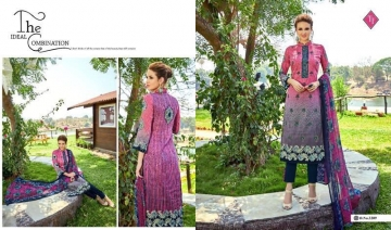 TANISHK FASHION SAYRA VOL 3 LAWN CAMBRIC PRINT SUITS WHOLESALE BY GOSIYA EXPORTS (9)
