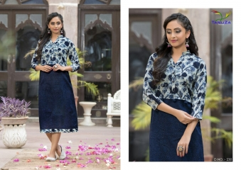 TANUZA PURE COTTON PARTY WEAR KURTIS COLLECTION WHOLESALE SUPPLIER BEST RATE BY GOSIYA EXPORTS SURAT (8)