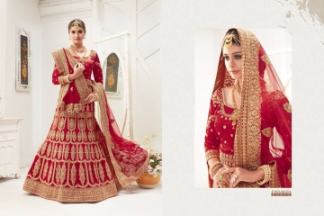 TARAH RIVAAJ 1 DESIGNER PARTY WEAR WEDDING LEHENGA COLLECTION WHOLESALE RATE BEST BY GOSIYA EXPORTS SURAT (1)