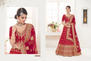 TARAH RIVAAJ 1 DESIGNER PARTY WEAR WEDDING LEHENGA COLLECTION WHOLESALE RATE BEST BY GOSIYA EXPORTS SURAT (4)