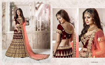 TARAH RIVAAJ 4 WEDDING LEHENGA COLLECTION WHOLESALER SUPPLIER ONLINE SURAT BEST RATE (1)