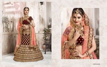 TARAH RIVAAJ 4 WEDDING LEHENGA COLLECTION WHOLESALER SUPPLIER ONLINE SURAT BEST RATE (4)