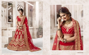 TARAH RIVAAJ 4 WEDDING LEHENGA COLLECTION WHOLESALER SUPPLIER ONLINE SURAT BEST RATE (5)
